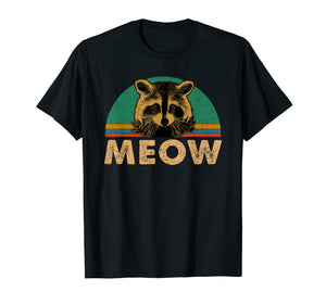 Raccoon Meow T-Shirt Funny Vintage Gifts Shirt For Lovers