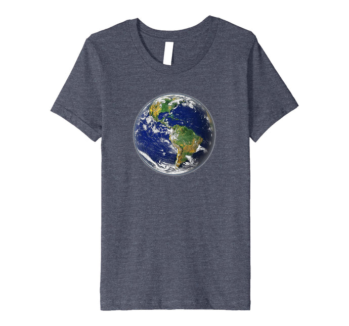 Planet Earth Globe T Shirt for Earth Day
