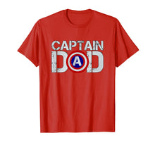 Load image into Gallery viewer, Mens Dad's Birthday Captain Dad Superhero T-Shirt