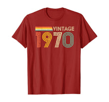 Load image into Gallery viewer, 50th Birthday Gift Men Retro Vintage 1970 Retro T-Shirt-214023