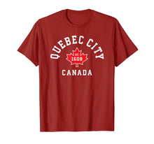 Load image into Gallery viewer, Quebec City Canada T-Shirt Canadian Flag Maple Leaf Gift Tee