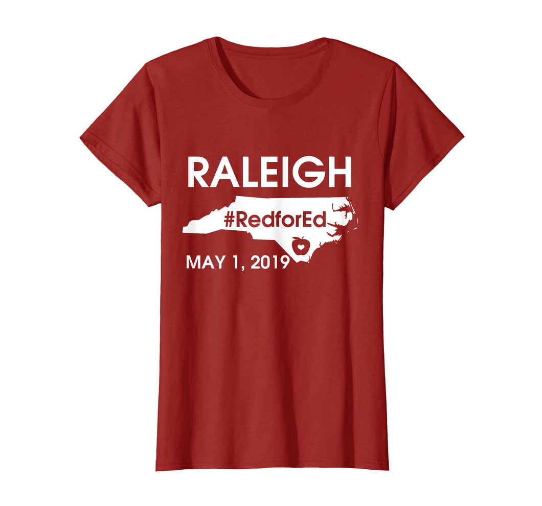 Red for Ed Raleigh North Carolina march T shirt May 1 2019