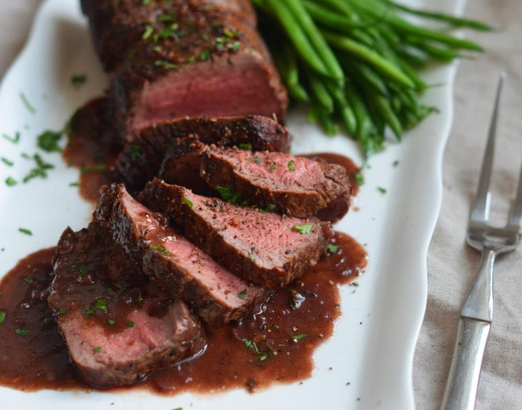 A la Carte Herb Crusted Sirloin with Red Wine Pan Sauce