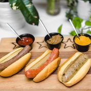 Load image into Gallery viewer, Mediterranean Lamb Sausage with Spicy Southern Giardiniera & Brioche Rolls