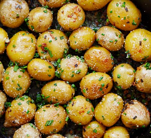 Roasted New Potatoes with Chives