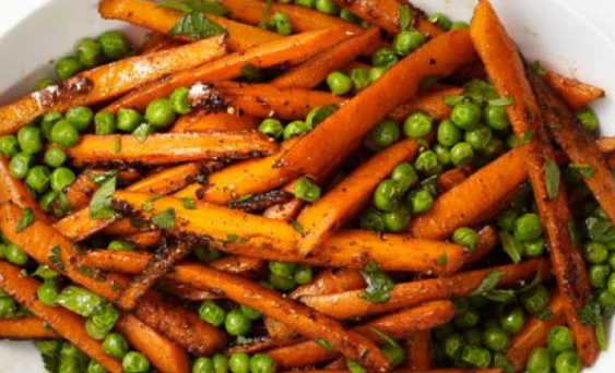 Moroccan Spiced Peas and Carrots