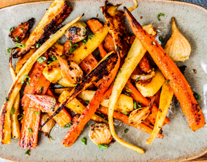 Spicy Candied Root Vegetables