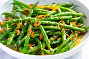 Green Beans with Crispy Shallots