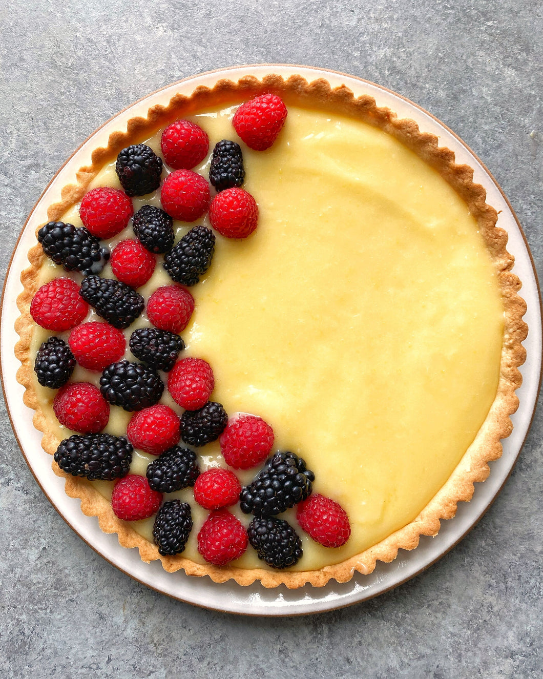 Lemon Curd Tart with Mixed Berries