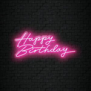 Open image in slideshow, Happy Birthday Neon Sign