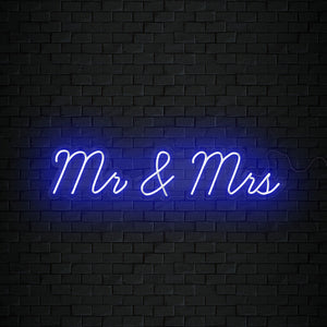 Open image in slideshow, Mr and Mrs Neon Sign
