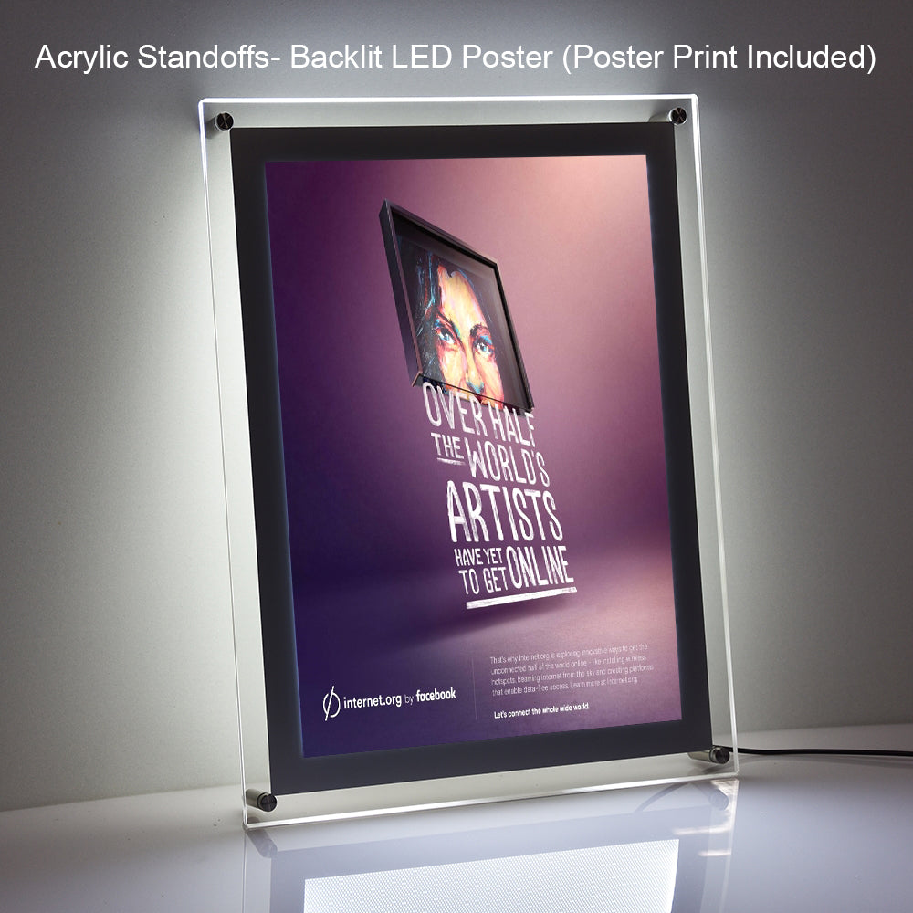 Backlit LED Poster