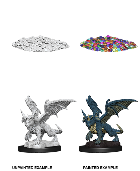 Wizkids Nolzur's Marvelous Miniatures: Blue Dragon Wyrmling | Cosmic Games