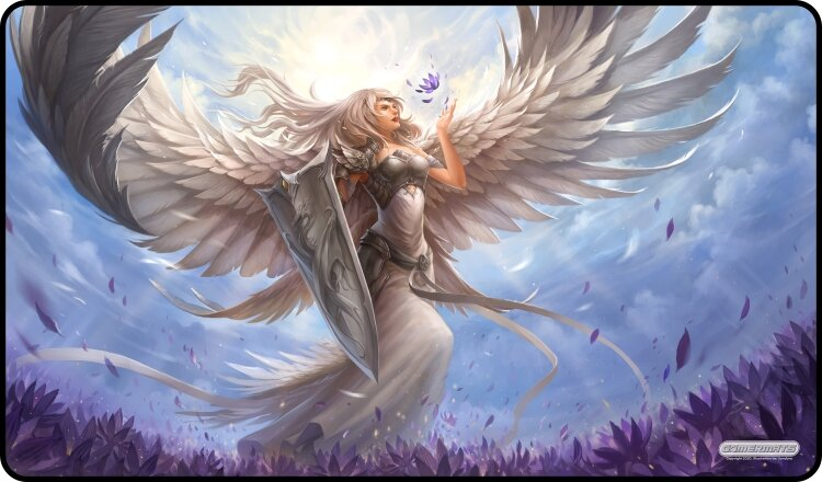 Gamermats Playmat - Angel in White | Cosmic Games