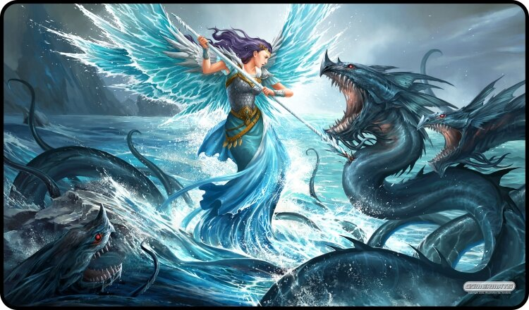 Gamermats Playmat - Aquatic Angel | Cosmic Games