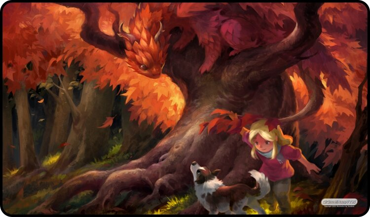 Gamermats Playmat - Autumn Dragon | Cosmic Games