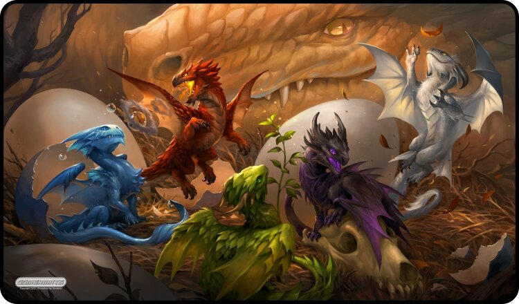 Gamermats Playmat - Baby Dragons | Cosmic Games