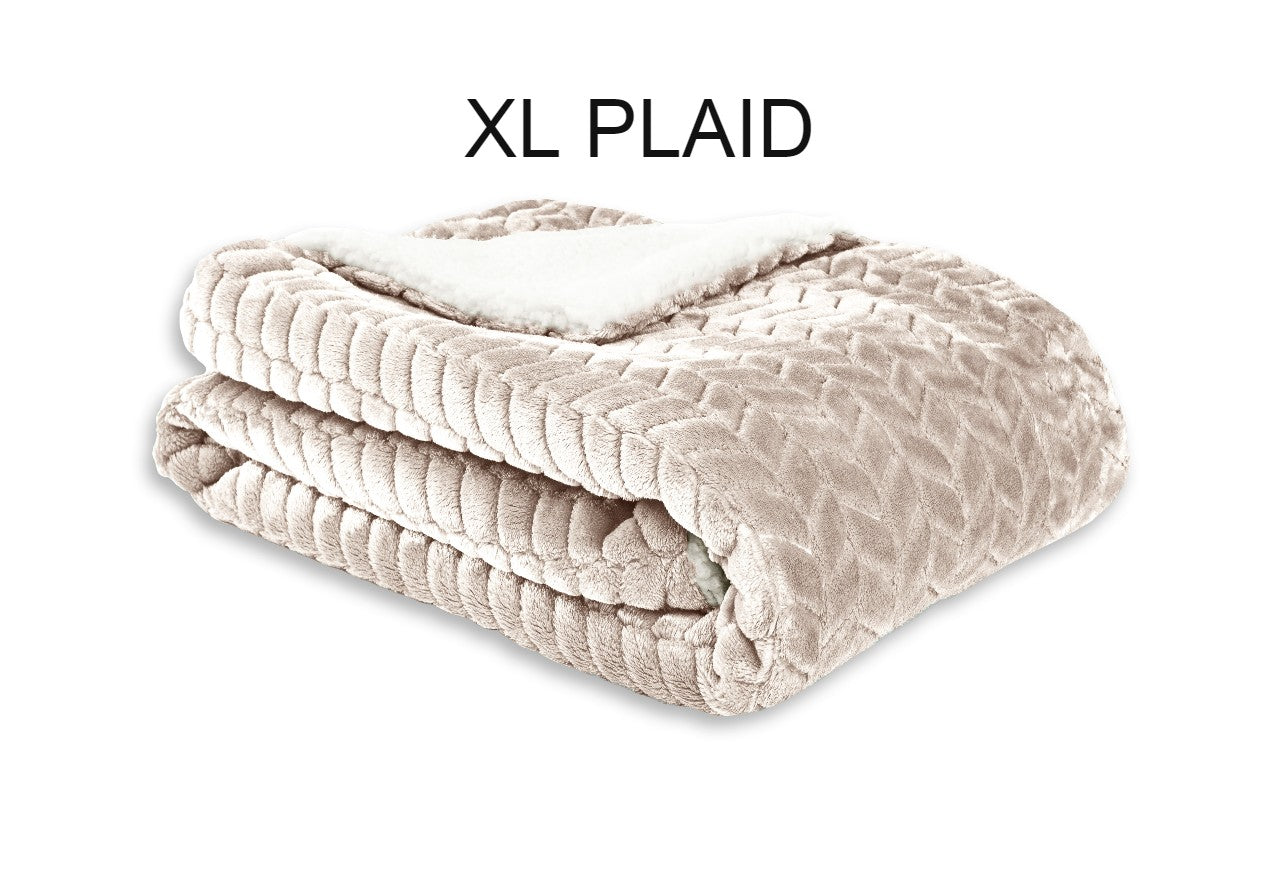 Plaid-leaf-beige-XL