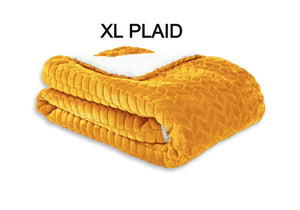 plaid-leaf-okergeel-XL