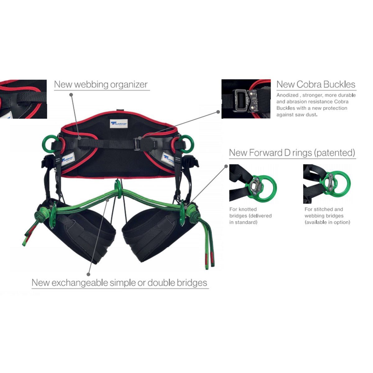 86023ec56d0 Teufelberger Treemotion Evo Harness for Tree Climbing Features