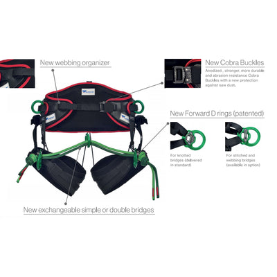 Teufelberger Treemotion Evo Harness for Tree Climbing Features