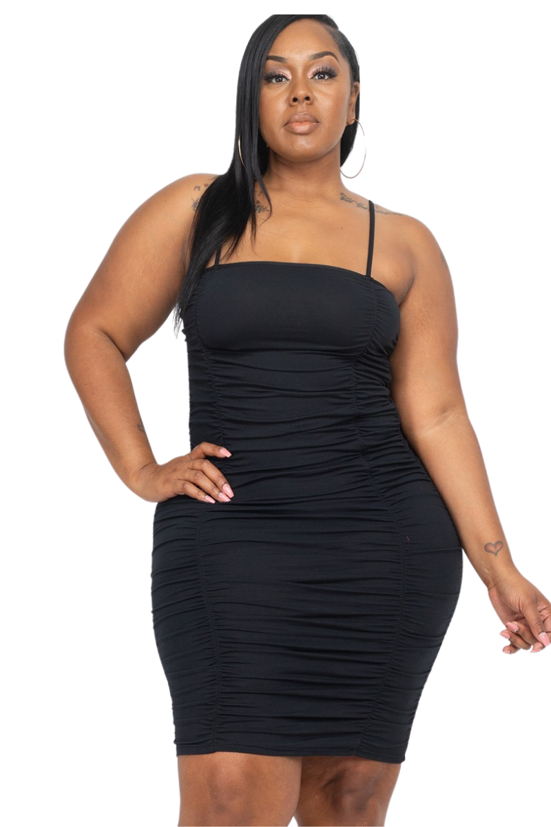 Curvy Fitted Black Sexy Dress