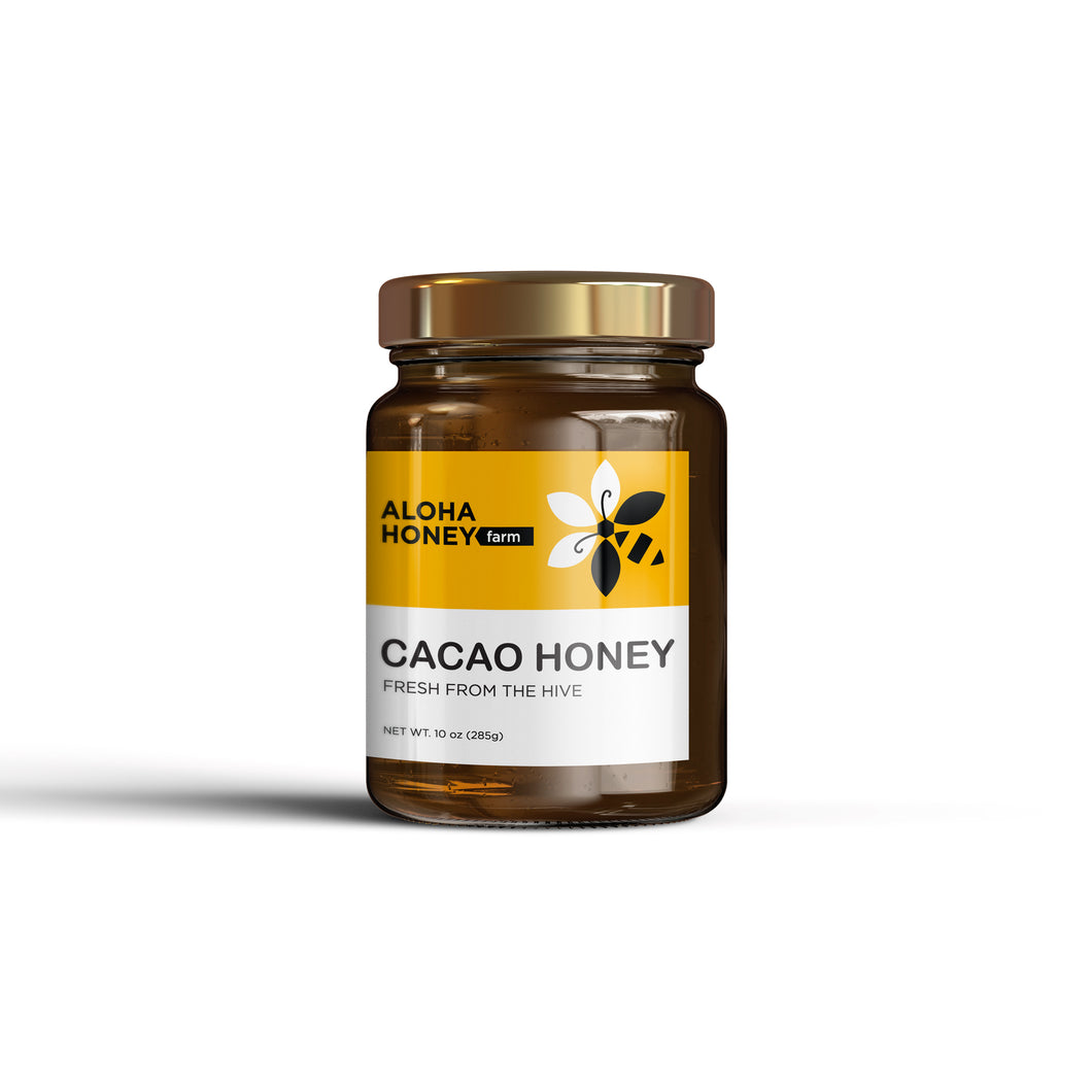 Raw Honey Infused with Cacao 10 oz (285 g)