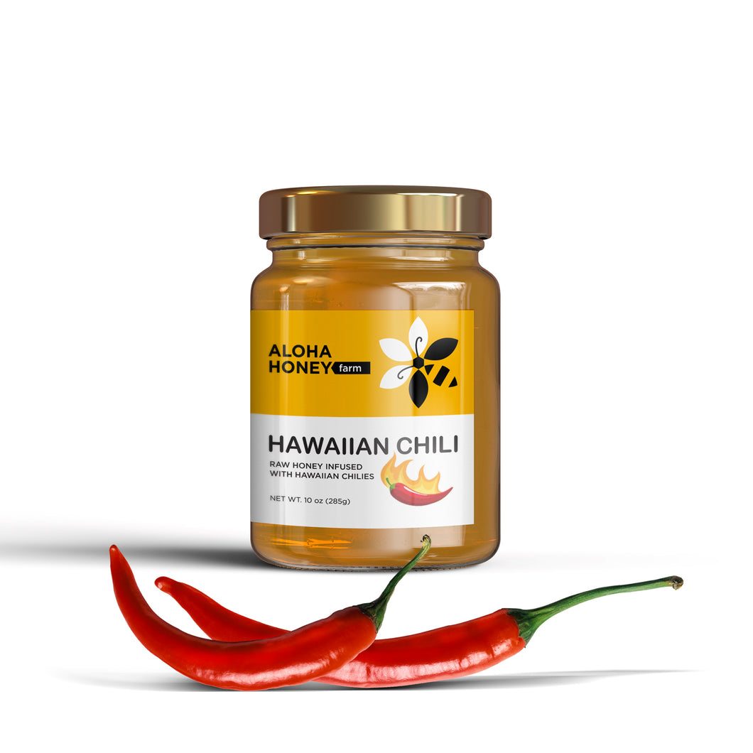 Hawaiian Hot (Hawaiian Chili infused with honey) 10 oz (285g)