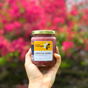 Raw Honey Infused with Hibiscus Flowers 10 oz (285 g)