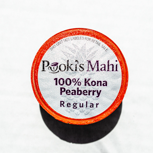 Pooki's Mahi® Kona Kafpresso™ 100 Kona PEABERRY Coffee in 100% recyclable capsules available as coffee subscription, wholesale coffee club or VIP distributor reseller. Hawaii Kona coffee Nespresso, Nespresso coffee pods, coffee for Keurig CA Prop 65.
