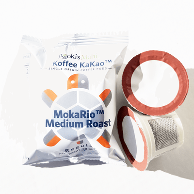 "Pooki's Mahi Koffee KaKao™ MokaRio™ - Bold, robust, cacao, strong ""bite"", light aftertaste ."