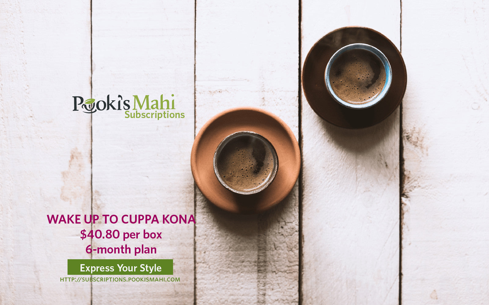 Save $14+ on 6-month Pooki's Mahi Kona coffee pods subscriptions.