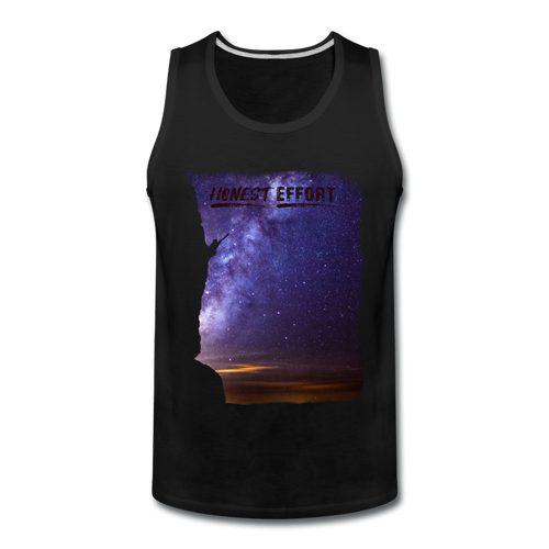 Reach For The Stars: Men's Tank Top - black