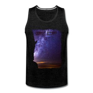 Reach For The Stars: Men's Tank Top - charcoal gray