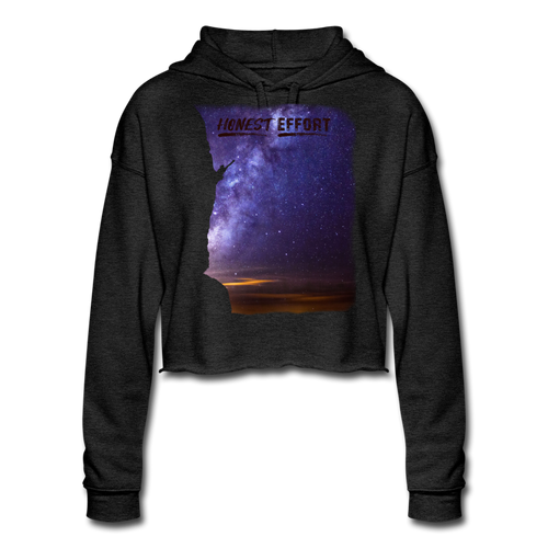 Reach for the Stars: Women's Cropped Hoodie - deep heather