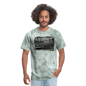 Honest Effort: Greydient Tee - military green tie dye