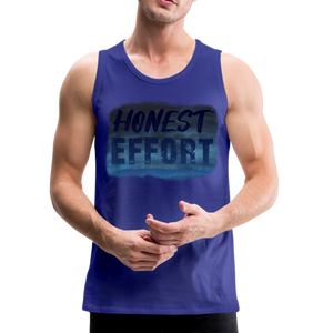 Honest Effort: Men's summer nights Tank - royal blue