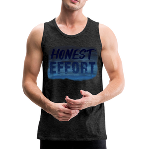 Honest Effort: Men's summer nights Tank - charcoal gray