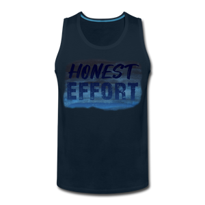 Honest Effort: Men's summer nights Tank - deep navy