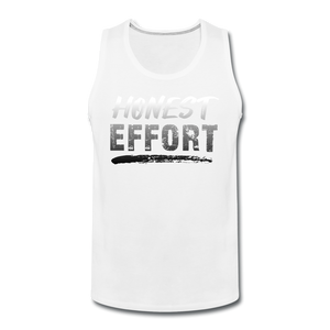 Honest Effort: Men's Greydient Tank - white