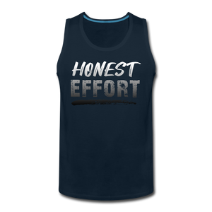 Honest Effort: Men's Greydient Tank - deep navy