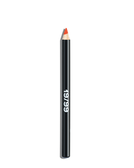 Multi Purpose makeup, clean beauty, orange eyeliner, orange lipstick, orange lip liner, orange blush, summer glow, ageism beauty, inclusive beauty, natural makeup, no makeup makeup, green beauty, Meleg Precision Color Pencil, 19/99 Beauty, buildable color
