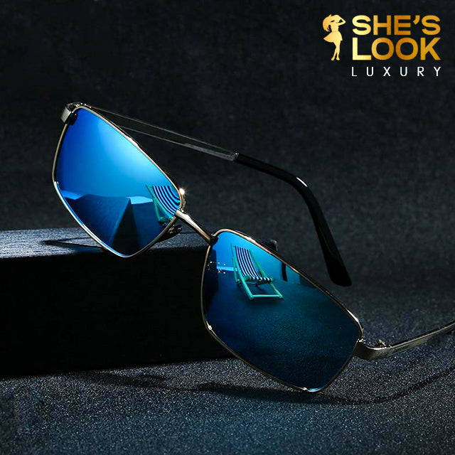 SHESLOOK LUXURY 2020 Rectangle Polarized Sunglasses Silver Mirror Sun Glasses For Women Metal Frame Square Sunglases UV400 G18102