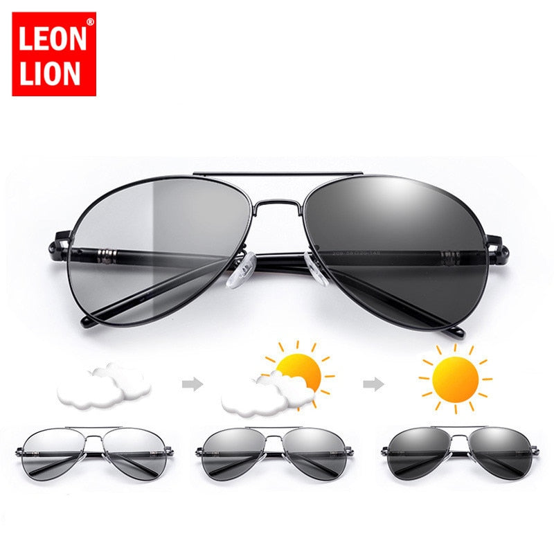 LeonLion Retro Sunglasses Men Polarized Vintage Sun Glasses For Men Polarized Sunglasss Men Brand Gafas De Sol De Los Hombres