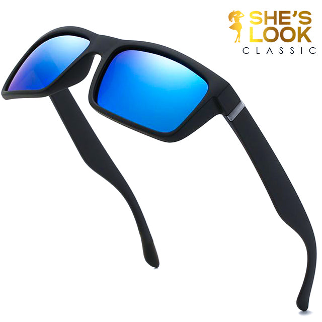 SHES LOOK CLASSIC Polaroid Sunglasses Unisex Square Vintage Sun Glasses Famous Brand Sunglases Polarized Sunglasses Retro Feminino for Women