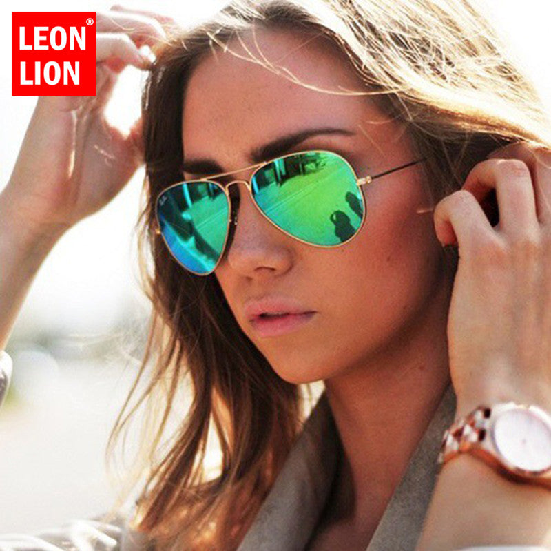 LeonLion 2020 Pilot Mirror Sunglasses Women/Men Brand Designer Luxury Sun Glasses Women Vintage Outdoor Driving Oculos De Sol