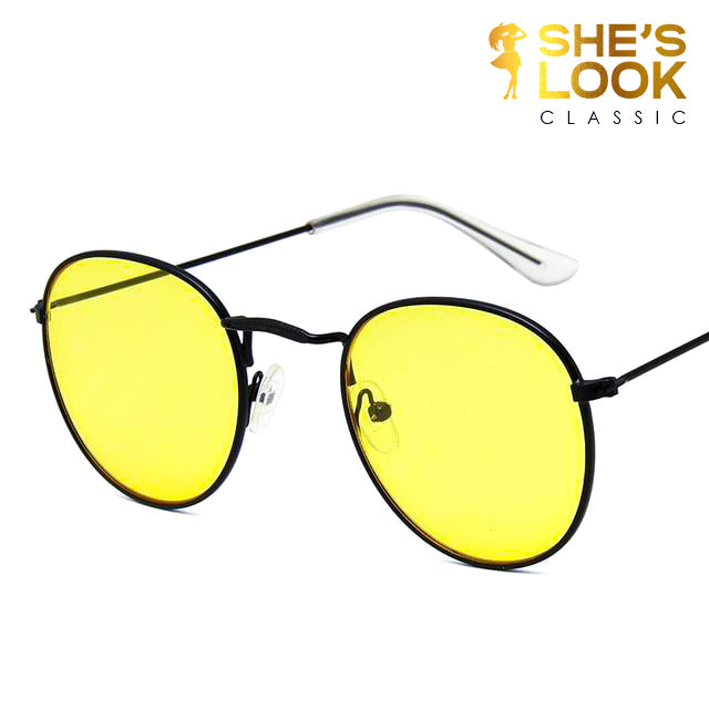SHESLOOK PREMIUM CLASSIC 2020 Vintage Oval Sunglasses Women  Eyeglasses Street Beat Shopping Mirror Oculos De Sol Gafas UV400