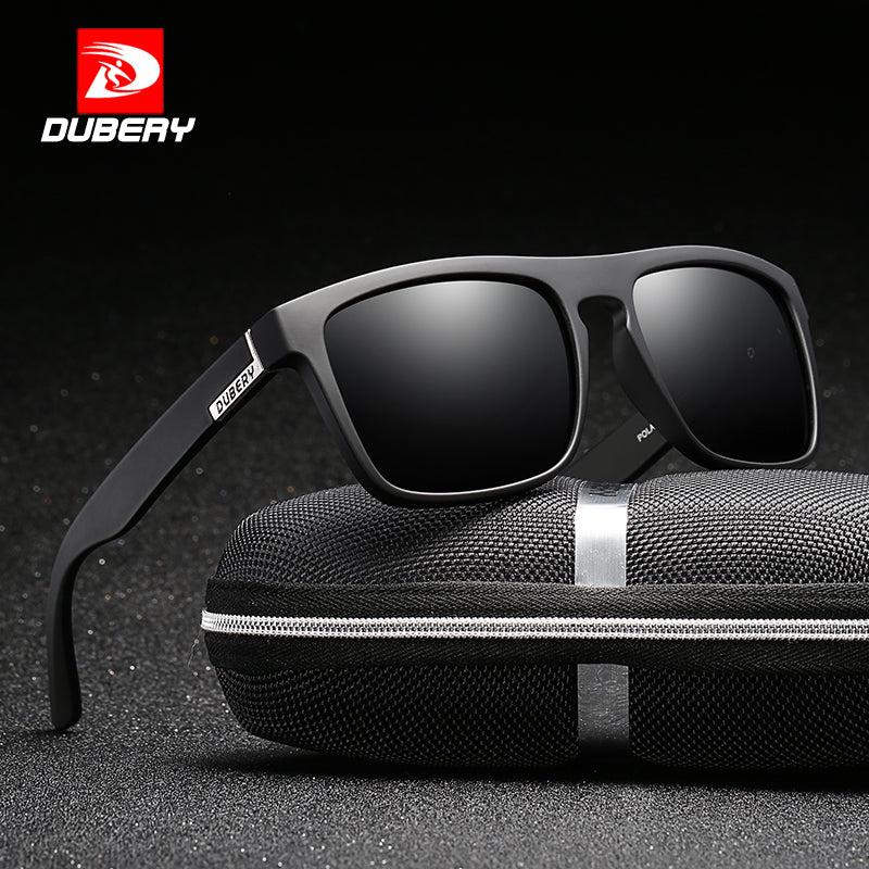 DUBERY Polarized  Sunglasses For Driving Fashion Brand Desinger Sun Glasses For Women Square Mirror 2020 Zipper Box