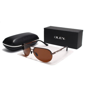OLEY Brand Polarized Sunglasses Men Classic pilot sun glasses Driving anti-glare UV400 goggles For Men women YA541