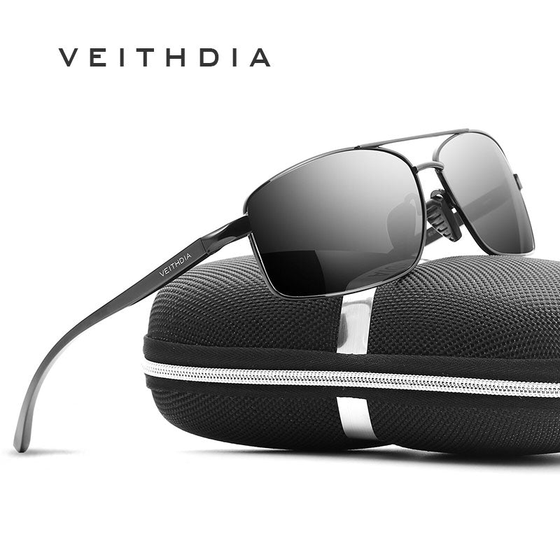 VEITHDIA 2020 Brand Aluminum Men's Sunglasses Polarized UV400 Male Sun Glasses Driving Eyewear For Men 2458